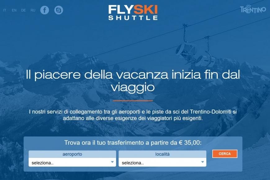 Flyski shuttle: dagli aeroporti alle piste da sci del Trentino
