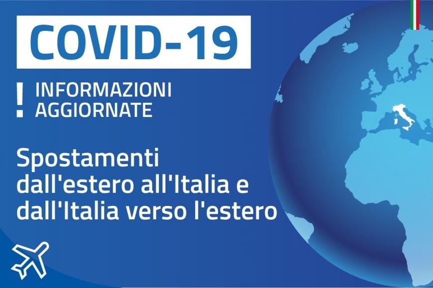 Coronavirus. Allentamento restrizioni ingressi in Italia