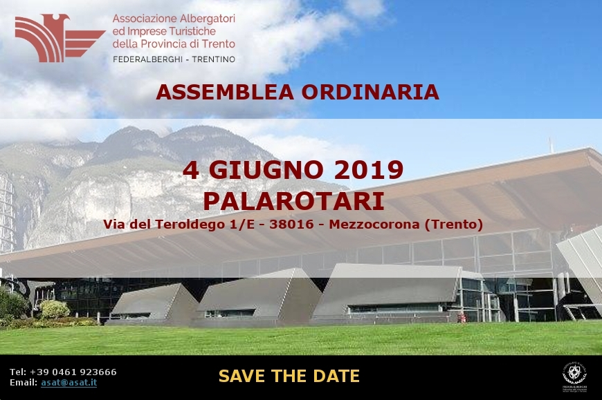 Save the date - 4 giugno 2019 - 73a Assemblea provinciale